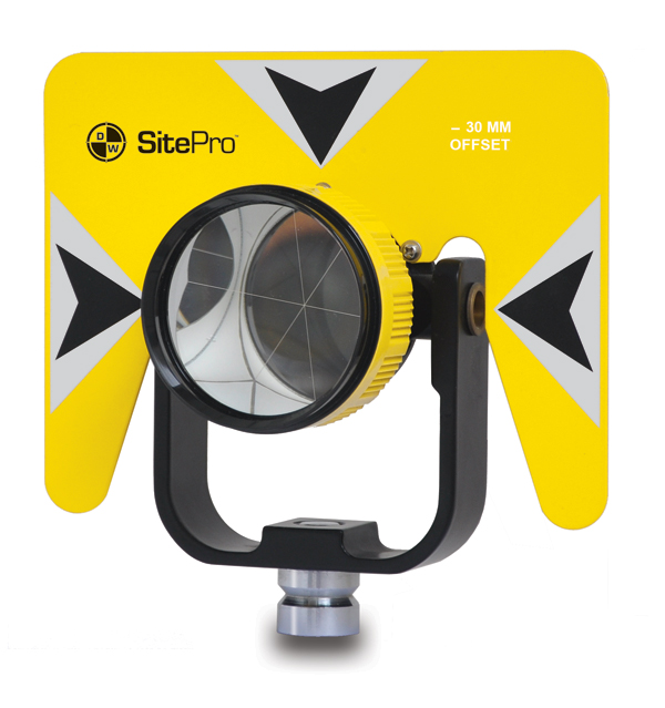 SitePro Tilting Single Prism, 0/-30mm 03-1010-Y Yellow