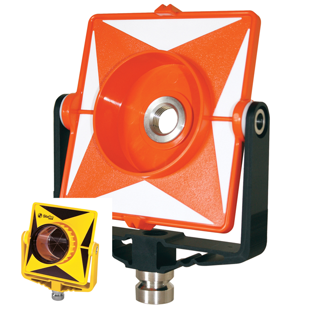 SitePro Single Prism Mount Only Poly w Metal Yoke Yellow