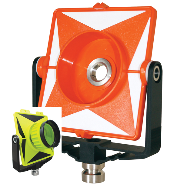 SitePro Single Prism Mount Only Poly w Metal Yoke Flo-Green