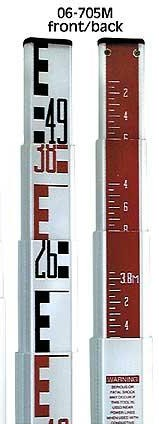 Metric Rectangular-Shaped Leveling Rods 06-9042MM