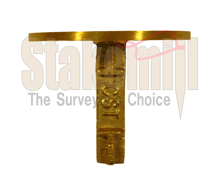 2-1/2 Inch Brass Survey Marker Flat Top 20-702