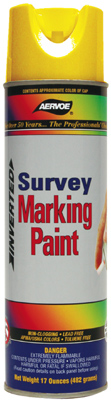 Aervoe Survey Marking Paint Flo Red, 20 oz Cans (Case of 12)