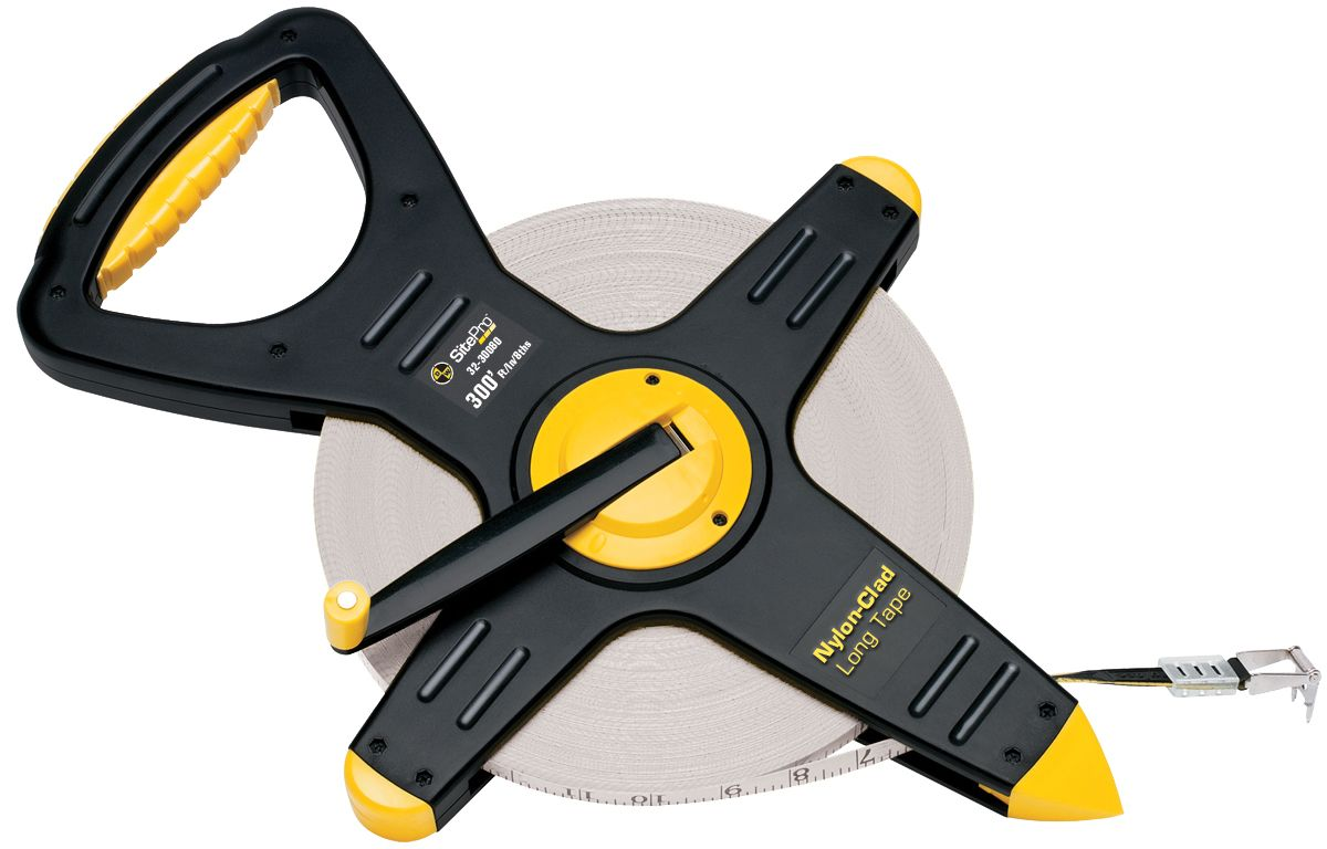 SitePro Nylon-Clad Steel Tape 300 Ft 10/100ths