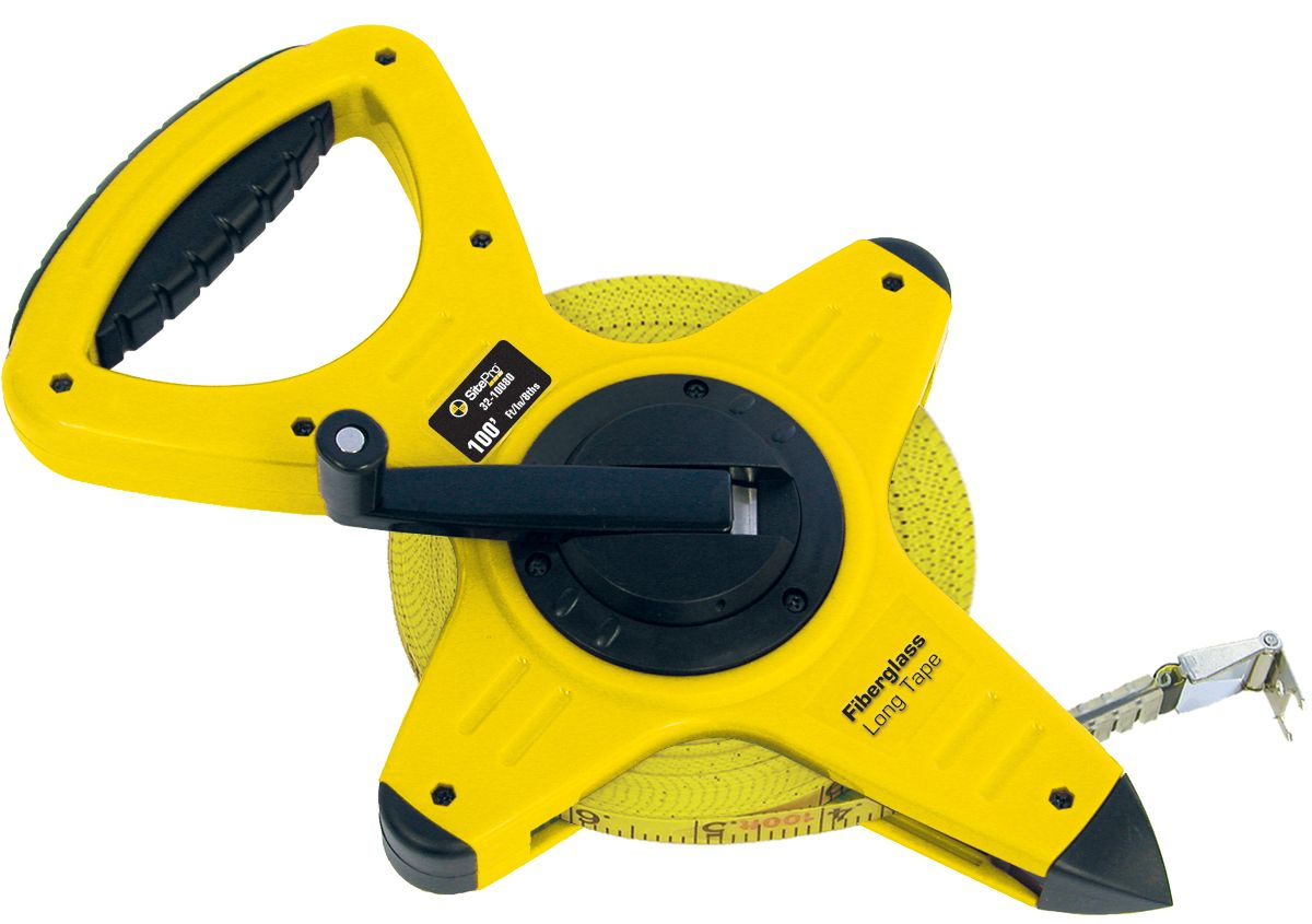 SitePro Fiberglass Measuring Tape 100 Ft 10/100ths