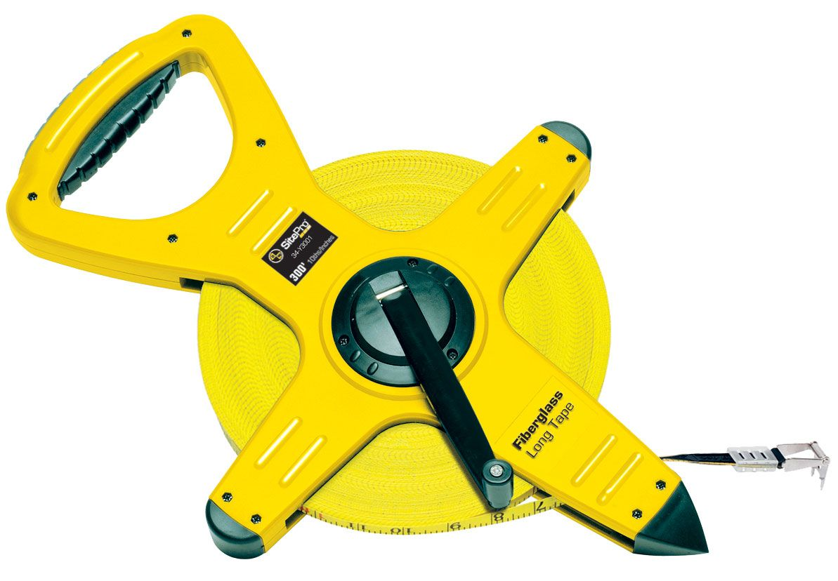 SitePro Fiberglass Measuring Tape 300 Ft 10/100ths