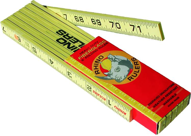 Rhino Waterproof Fiberglass Folding Ruler Inches/Tenths 55125