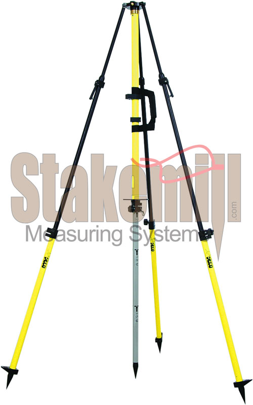 SECO Fixed-Height GPS Antenna Tripod Collapsible Center Yellow