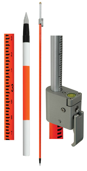 SECO Geodimeter Style Telescoping Prism Pole with Site Rod