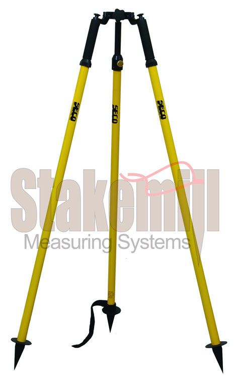 SECO Thumb-Release Prism Pole Tripod 5218-40-YEL