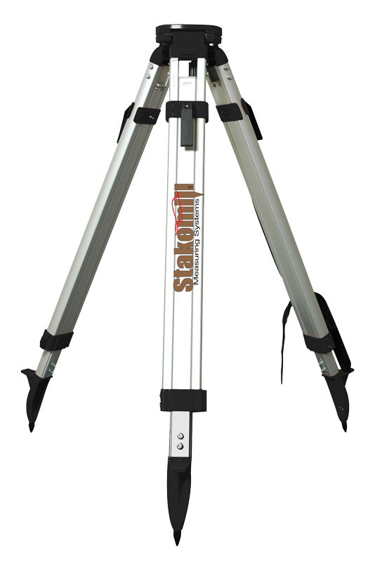 SECO Heavy-Duty Aluminum Tripod Square Leg, Flat Head Black