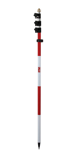 SECO 15.25 ft TLV Prism Pole - Red and White