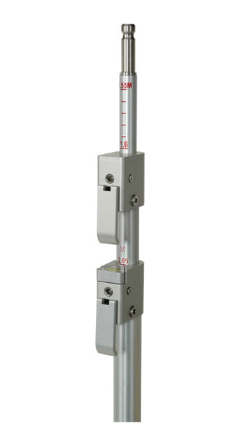 SECO Aluminum Swiss QLV 12 Ft Prism Pole 10ths Metric 5802-20