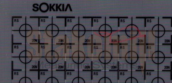 Sokkia Reflective Sheet Targets RS20N 20x20mm 100/Sheet