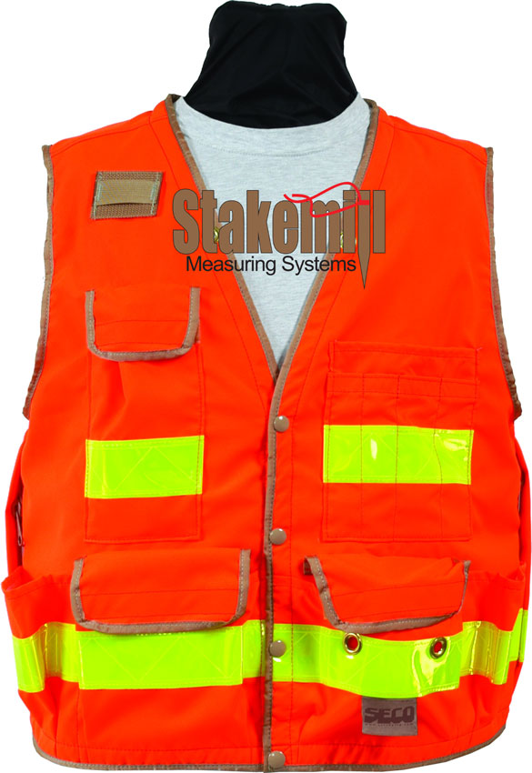 SECO 8063 Series Surveyors Vest Class 2 Fluorescent Orange