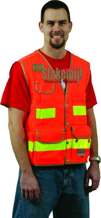 SECO 8067 Series Surveyors Utility Vest Fluorescent Orange
