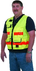 SECO 8067 Series Surveyors Utility Vest Fluorescent Yellow