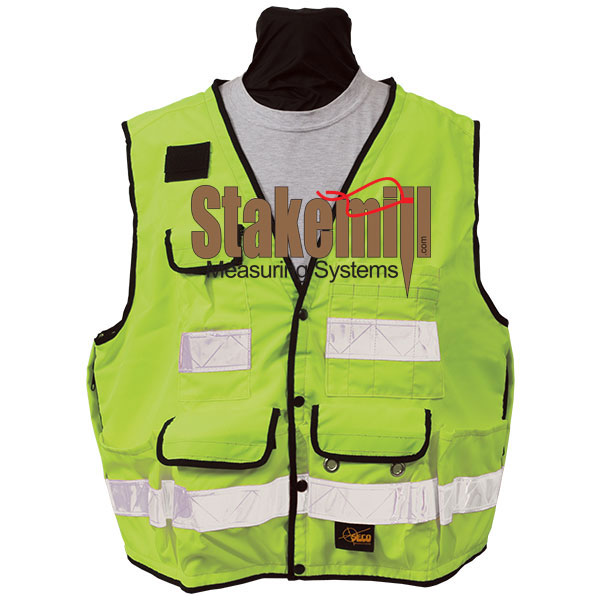 SECO 8068 Series Surveyors Vest Class 2 Fluorescent Yellow