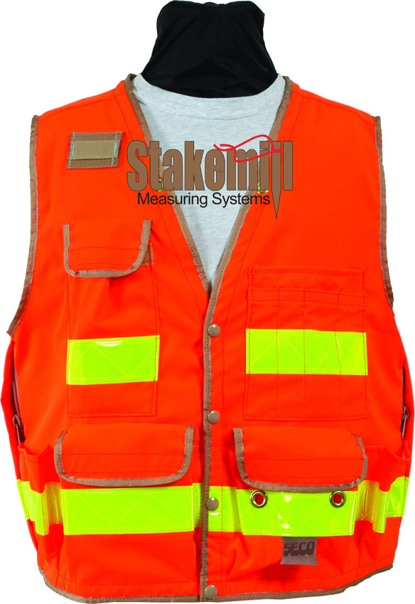 SECO 8068 Series Surveyors Vest Class 2 Fluorescent Orange