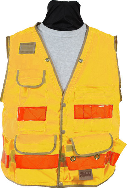 SECO 8069 Series Survey Utility Vest Class 2 Fluorescent Yellow