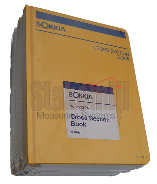 Sokkia Cross Section Field Book 815275 6 PACK