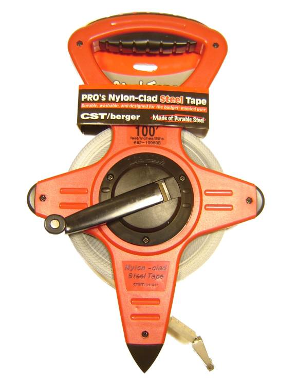 CST 100 Ft Ny/Clad O/R Tape 8ths Hook B End