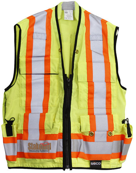 SECO EMEA Class2 Safety Utility Vest Fluorescent Orange