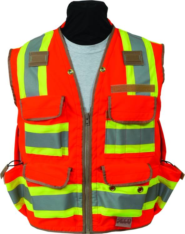 SECO 8265 ANSI/ISEA Class 2 DOT Safety Vest Fluorescent Orange