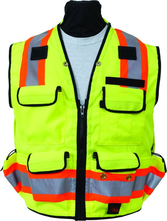 SECO 8265 ANSI/ISEA Class 2 DOT Safety Vest Fluorescent Yellow