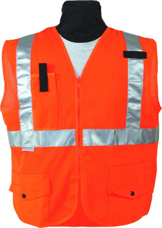 SECO 8290 Economy Safety Vest Class 2 Fluorescent Orange