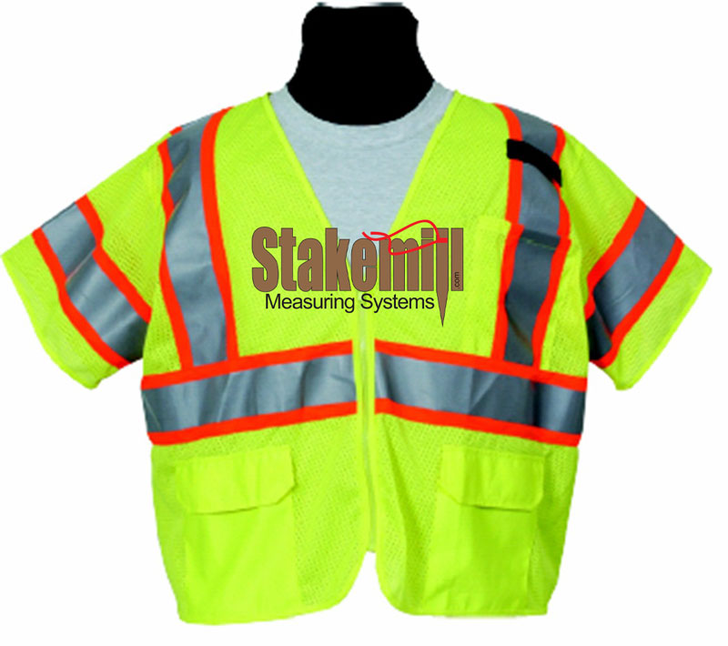 SECO CLASS 3 Economy Safety Survey Vest Fluorescent Yellow
