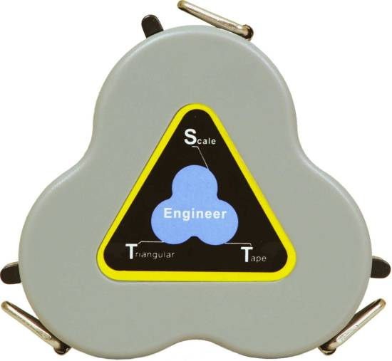 SECO Retractable Triangular Engineer Scale Tape