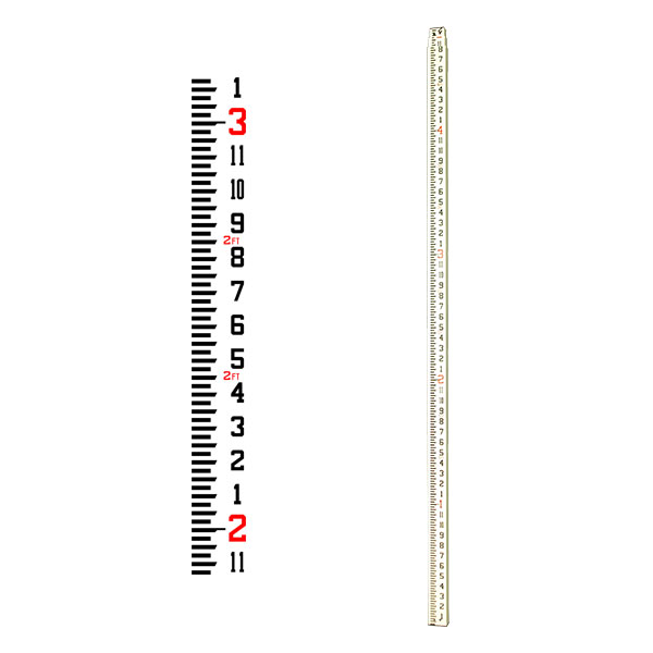 GeoMax Fiberglass Grade Rod 13 Ft Inches