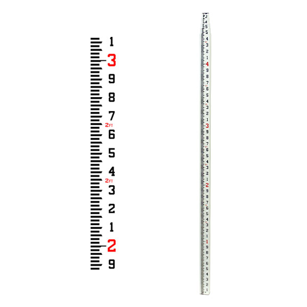 GeoMax 25-Ft. Telescoping Fiberglass Level Rod 10ths