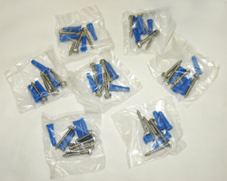 7 Sets Stainless Steel Screws and Anchors