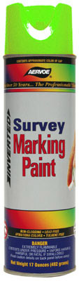 Aervoe Survey Marking Paint Flo Green, 20 oz Cans (Case of 12)