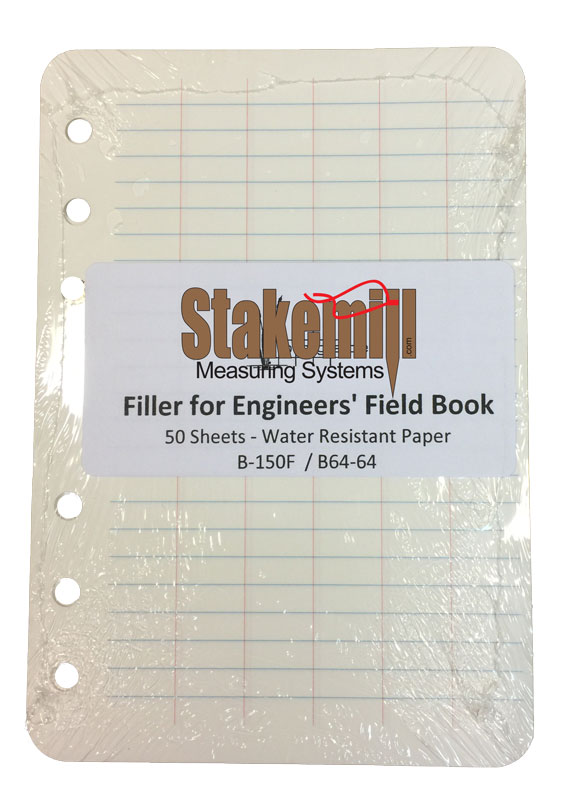 64 Field Book Filler Paper Universal Punch 50 pages