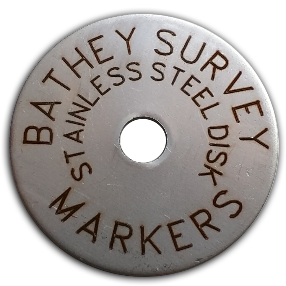 "1 1/2"" Stainless Steel Disc - Laser Engraved Text 1/16"" Thick"