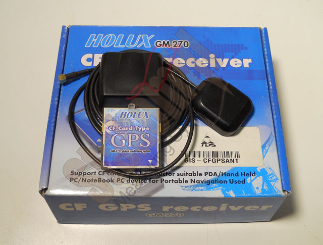 HOLUX CF GPS GM-270 Receiver Card w/Antenna DEMO