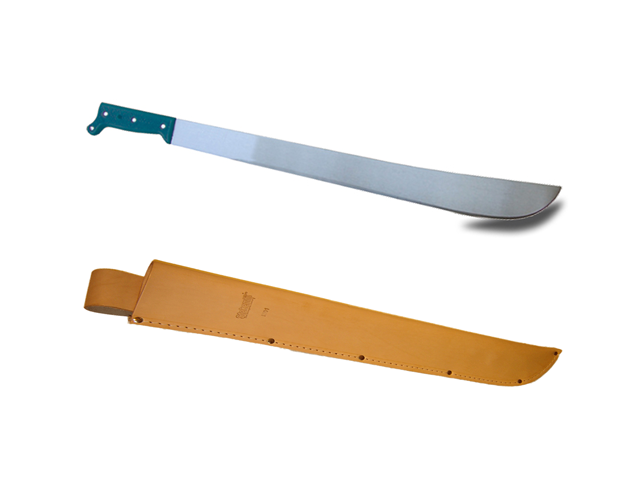22 Inch Machete and Leather Sheath Combo