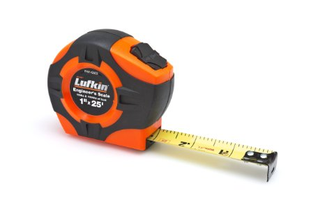 "Lufkin PHV1425DN 1"" x 25' Hi-Viz Orange Engineer's Power Tape"