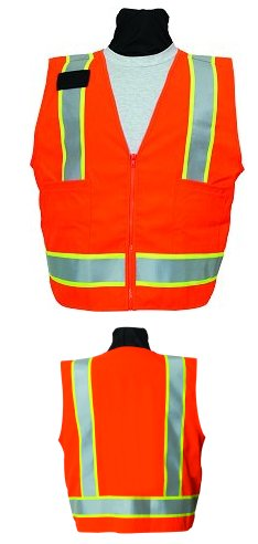 SECO 8292 Class 2 Safety Utility Vest Fluorescent Orange