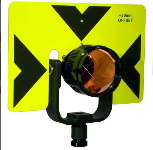Tilting Prism Assembly with 6 x 9 in. Target, Florescent Yellow