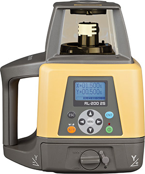 Topcon RL-200 2S Dual Slope Rotary Laser Level Package