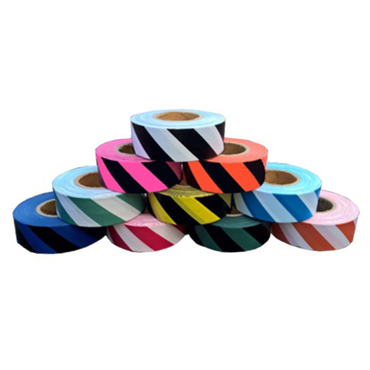 Trinity Tape Striped Flagging Tape - BLUE/BLACK