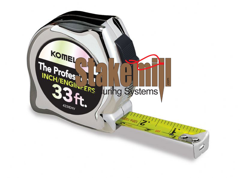 Komelon 33 Ft Power Tape 8ths & 10ths 433IEHV