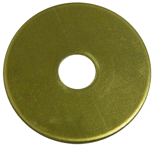 "Brass 1 1/4"" Tag No Stamping 1/32"" Thick"
