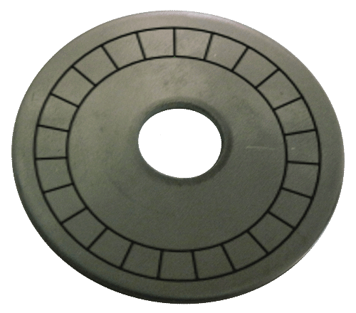 "1 1/2"" Stainless Steel Disc - Stamped Arc Text 1/16"" Thick"
