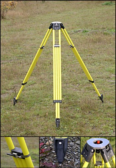 Dutch Hill Surveyors Tripod ELT3000ADC Yellow Aluminum Head Dual