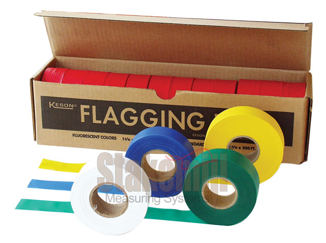 Solid Yellow Roll Flagging (Dozen)