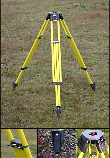 Dutch Hill GT2000A-DC Tripod Yellow w Composite Head Dual Locks